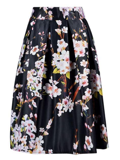 Flower Printed Puffball Skirt For A Summer Garden floral print high waisted midi skirt look lust