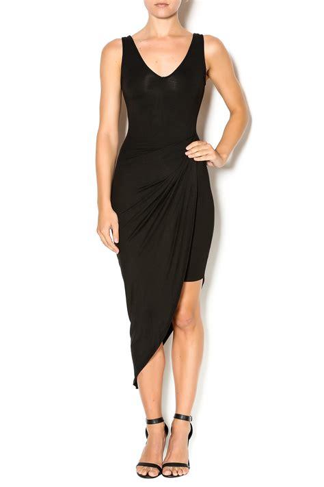 black bead clothing brand black bead side drape dress from manhattan by dor l dor