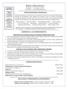 sle resume for hr generalist resume cv cover letter