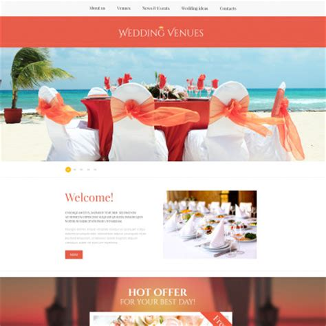 Wedding Event Website by Wedding Planner Website Templates