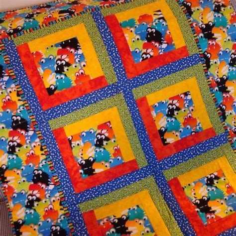 Handmade Childrens Quilts - monsters in my closet handmade baby quilt quilt