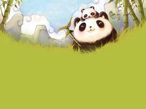 panda bambu hijau  gambar latar belakang panda
