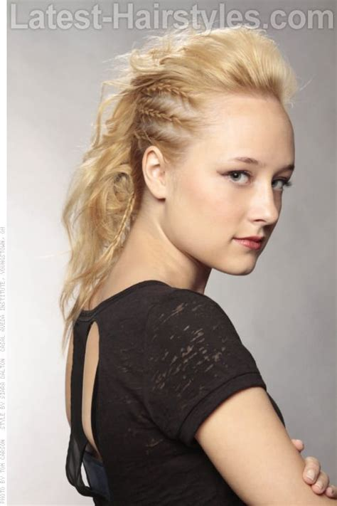 french braids pin up on the sid for black woman mohawk hairstyle with side braids hair and beauty