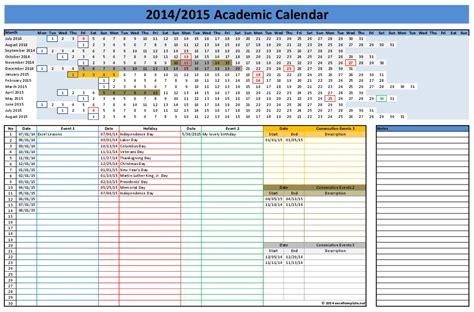 calendar template  excel sanjonmotel
