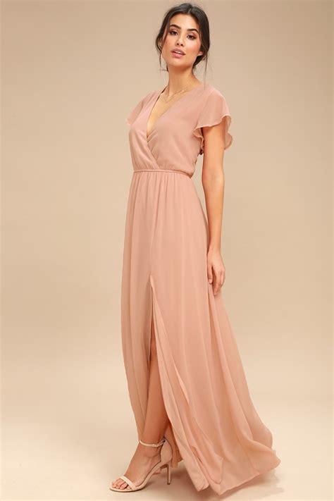 blush colored maxi dress blush maxi dress sleeve maxi dress