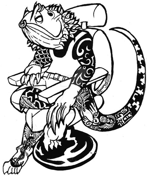bearded dragon tattoo designs tatted bearded by agentpendergast on deviantart
