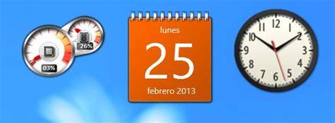 calendario para escritorio windows 7 como habilitar usar y poder instalar gadgets en windows 8