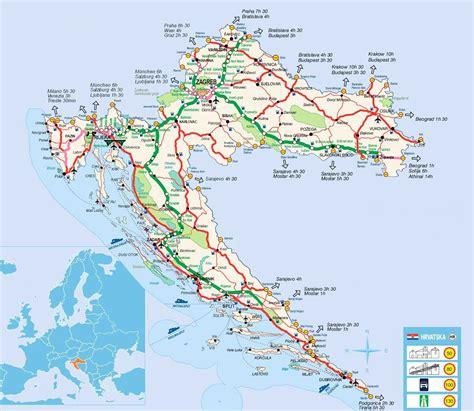 croatia map detailed road map of croatia croatia detailed road map