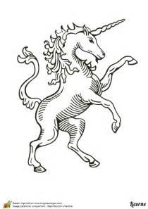 Dessin 224 Colorier D Une Licorne Du Moyen Age