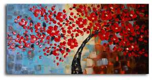 Rooms With Chandeliers Bouquet Of Textured Red Hand Painted Oil Painting Modern
