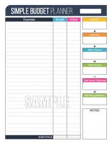 simple budget planner worksheet editable personal