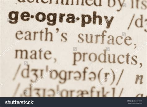 Landscape Dictionary Definition Definition Word Geography Dictionary Stock Photo 261501917