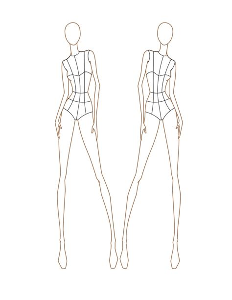 fashion templates front and back sketch template front and back fashion style