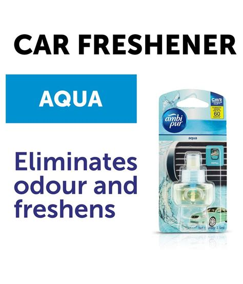 Ambi Pur Car Refill 60 Days 7 5ml ambipur aqua car air freshener refill pack 7 5 ml buy