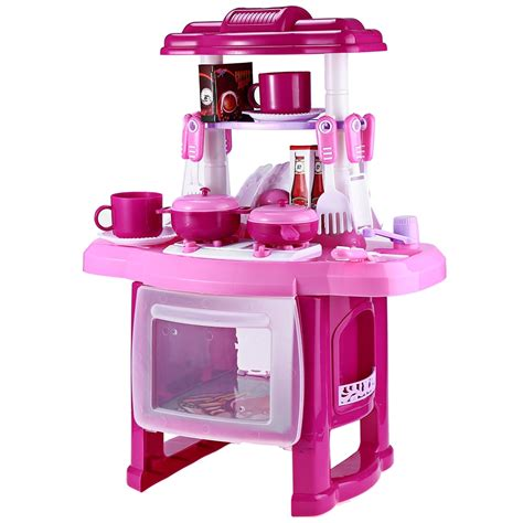 Kitchen Set For 3 pink kitchen set children kitchen toys large kitchen