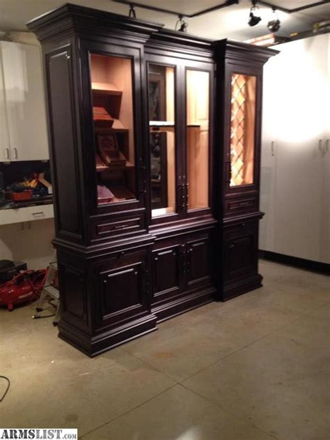 used cigar humidor cabinet for sale armslist for sale custom gun cabinet with cigar humidor