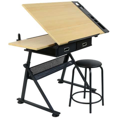 drafting drawing table desk hartleys drawing table with 2 drawers drafting bench