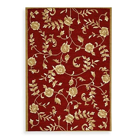 rugs with red accents safavieh ez care floral accent rugs in red gold bed bath