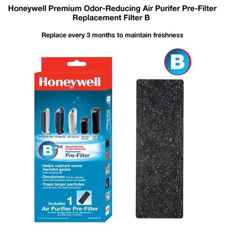 honeywell premium odor reducing air purifier pre filter hrf b1 the home depot