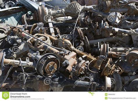 Workshop Garage Plans Pile Of Rusty Car Parts Stock Photos Image 29660303