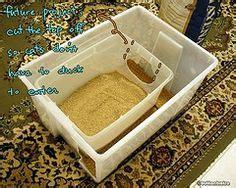 How To Keep Cat Litter The Floor by Do It Yourself Cheap Mess Free Cat Litter Box Litter Box