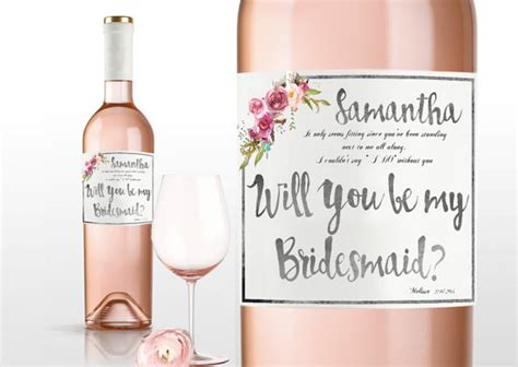 will you be my bridesmaid wine label template unique ways to ask will you be my bridesmaid