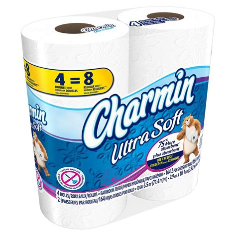 softest bathroom tissue charmin ultra soft bath tissue 4 rolls 003700086775 the home depot