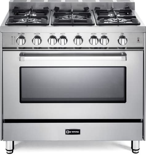 gas cooktop with electric oven verona vefsgg365n 36 inch pro style gas range with 5