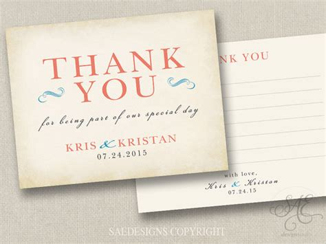 Wedding Announcement Thank You Cards by Wedding Thank You Notes Matching Invitations Announcement
