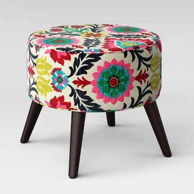 round ottomans with legs riverplace round cone leg ottoman project 62 target