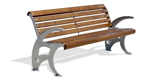 in the panchina panchina con struttura in ferro seduta e schienale in
