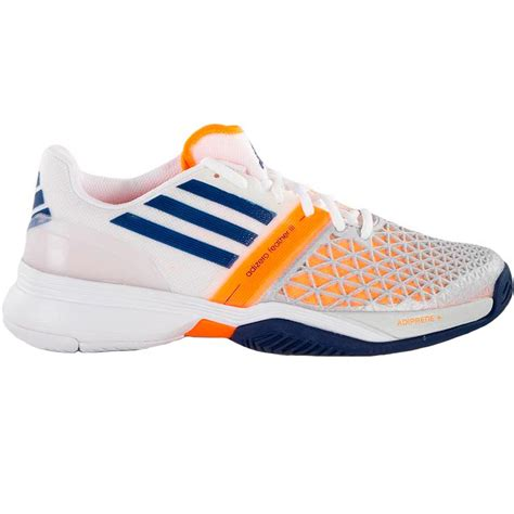adidas tennis shoes adidas adizero feather iii s tennis shoes white blue zest