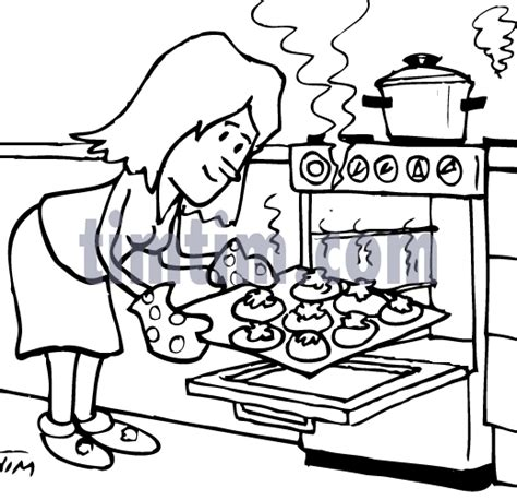 bake cake coloring page woman baking colouring cake ideas and designs