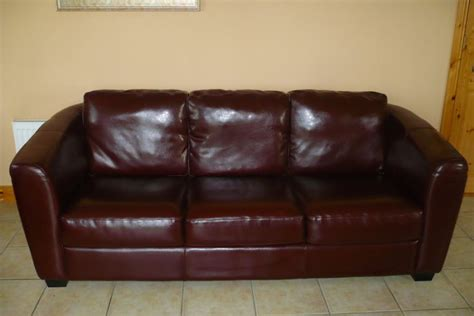 decoro 3 seater brownchestnut leather sofa for sale for