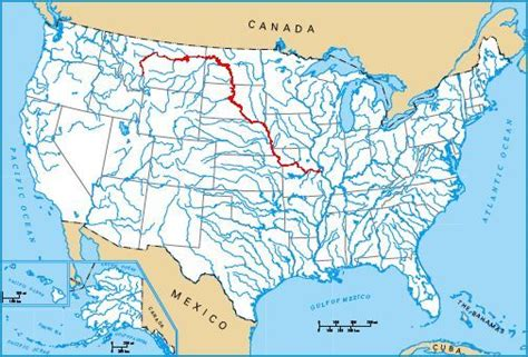 map of usa missouri river missouri river map
