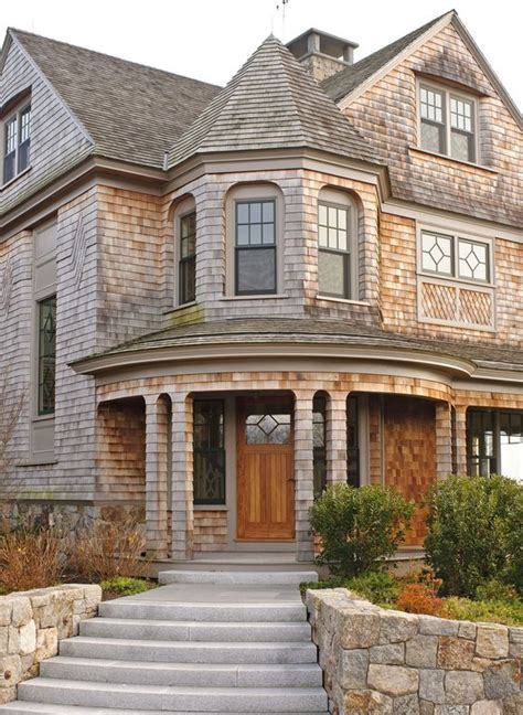 Cottage With Turret by Cottage Front Door With Exterior Chimney By