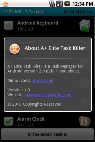 android app killer a elite task killer free android app android freeware