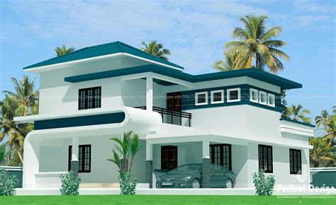 bhk modern floor home kerala inspirations design