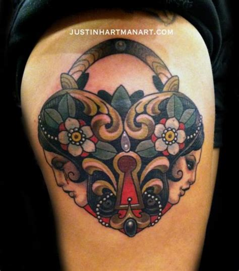 heart shaped lock tattoo designs lock by justin hartman