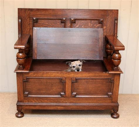 monks bench oak solid oak monks bench 442077 sellingantiques co uk