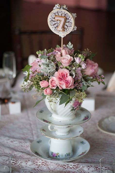 shabby chic wedding table decorations best 20 teapot centerpiece ideas on afternoon