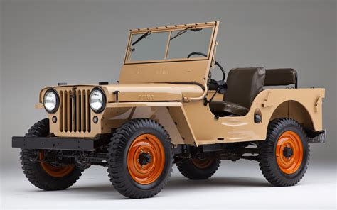 Jeep Cj2 1945 Willys Overland Model Cj2a Front Three Quarters