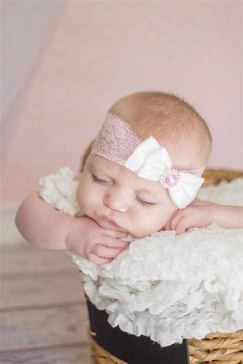 newborn baby headband bows lace flower children lace and satin bow baby headband baby headbands lace
