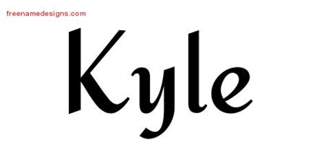 kyle tattoo font kyle archives page 3 of 3 free name designs