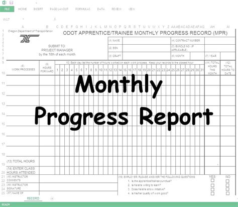 civil engineering technical report sle monthly progress report mpr spreadsheet civil