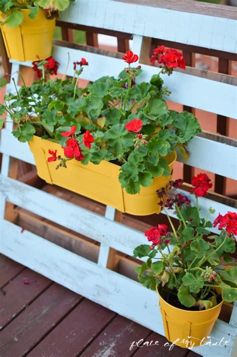 pallet flower pot hanger place   taste