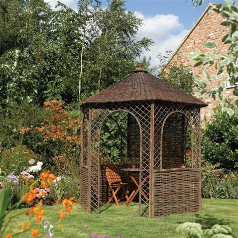 pavillon 2 5x2 5 8 2 quot x 7 1 quot ft 2 5 x 2 2m rustic willow garden gazebo