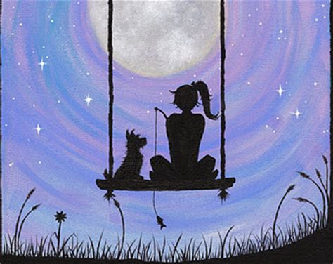 cat on a swing about a girl a dog and a cat delirium tremens