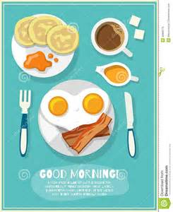 Decorative Eggs Breakfast Icon Poster Stock Vector Image 46668776
