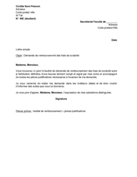la lettre de la bourse gratuit lettre de demande de remboursement des frais de scolarit 233 suite 224 l octroi d une bourse mod 232 le